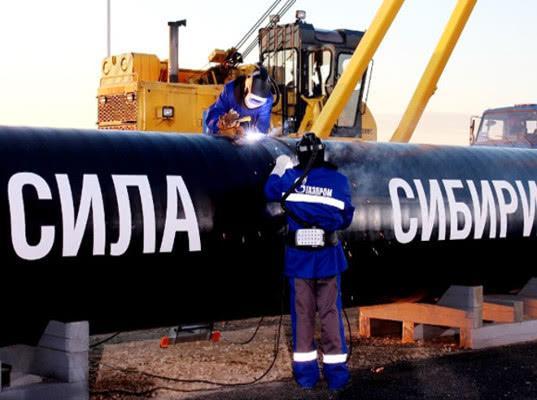 Китай начнет выкачивать газ из России по Силе Сибири с 1 декабря 2019 года