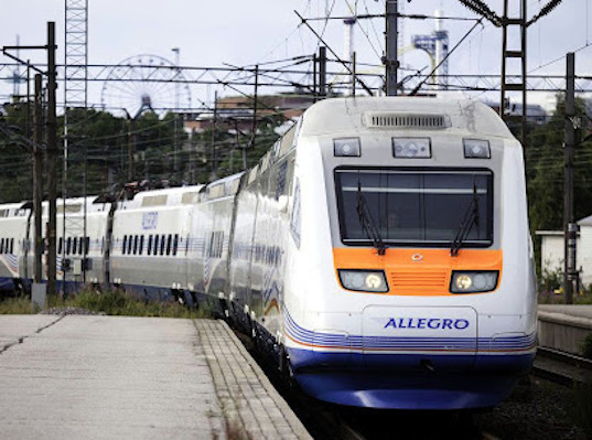 Перевозки пассажиров поездами Аллегро выросли в январе-апреле 2019 года на 21% - Логистика