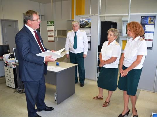 Начальник ЦТУ Сергей Прусов проинспектировал деятельность таможенных постов Рязанской области