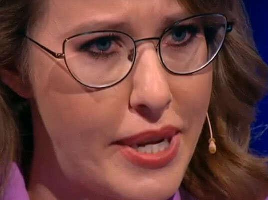 Участники предвыборных теледебатов довели до слез Ксению Собчак