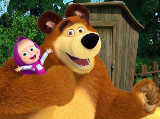Британские СМИ назвали Машу и Медведя российской пропагандой