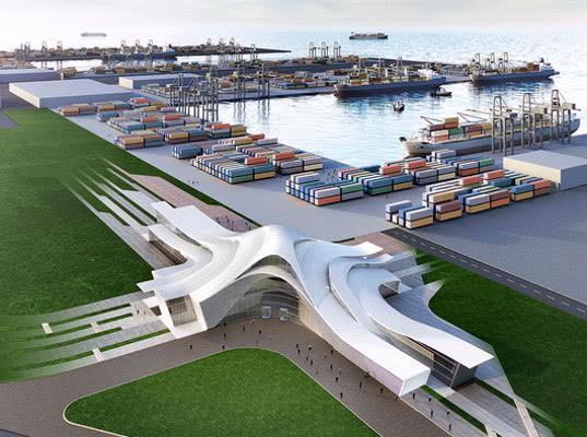 Азербайджан открыл на Каспии новый международный морской торговый порт мощностью 15 млн т. - Логистика