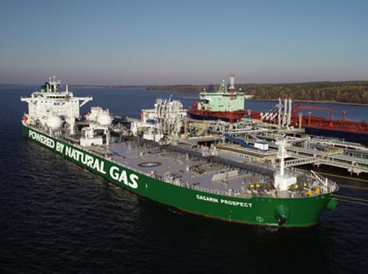 Первый в мире танкер типоразмера «Афрамакс» на СПГ успешно завершил первый коммерческий рейс - Логистика