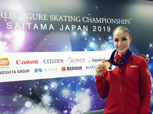 Российская фигуристка Алина Загитова выиграла короткую программу на ЧМ в Японии - Экономика и общество