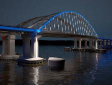 Керченский мост будет подсвечен цветами российского флага - Экономика и общество