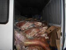 Пресечена попытка ввоза мясосырья из Белоруссии в Себежском районе