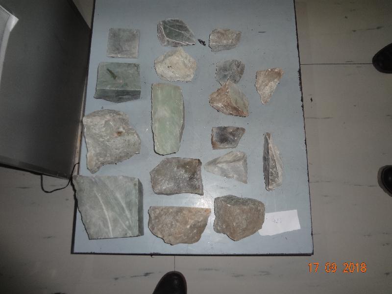 На таможенном посту ЖДПП Забайкальск было обнаружено более 56 килограммов нефрита