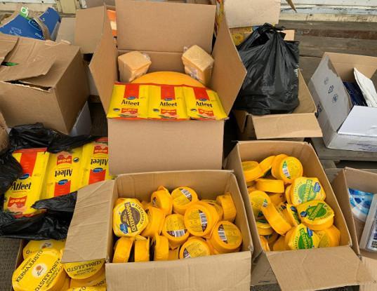 Пулковская таможня: выявлено 292 килограмма санкционной продукции