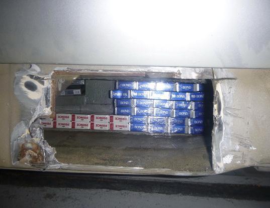 Сигареты, заваренные в люках, ехали в Литву